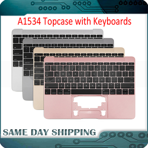 New for Macbook 12'' A1534 Keyboard UK US English French German Spanish with Topcase Backlight Gold Grey Silver Gold 2016-2017