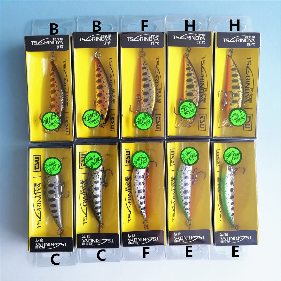 Tsurinoya 10Pcs Sinking Minnow Fishing Lure 5cm 5g Winter Laser Hard Artificial Bait 3D Eyes Fishing Wobblers Crankbait Minnows