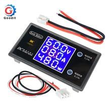 DC 0-100 в 10 А ЖК-дисплей цифровой вольтметр Амперметр ваттметр Напряжение Ток измеритель мощности Детектор напряжения 12 в 24 в 36 В 1000 Вт