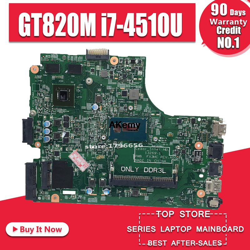 For DELL 3542 15-3542 DELL Insprion 3442 3543 3443 5749 Motherboard 13269-1 PWB FX3MC REV A00 Motherboard I7-4510u