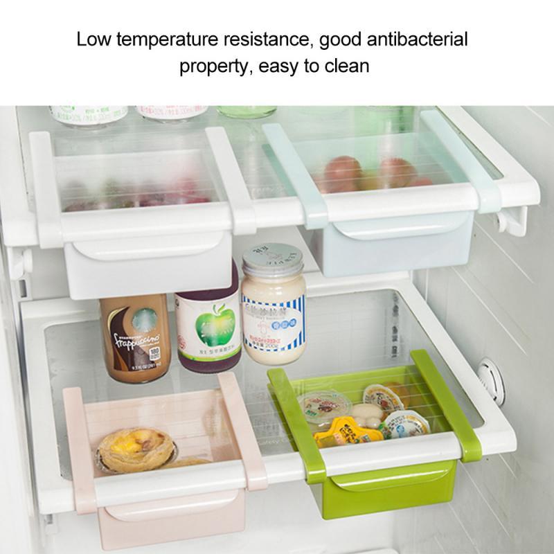 Organizador De Cocina Ajustable Organizador Para Nevera Estante De Almacenamiento Para Refrigerador Estante De Refrigerador Organizador De Cajón Bastidores Y Soportes Aliexpress