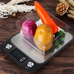 10Kg/1g 5KG/1g numérique LCD rétro-éclairage affichage cuisine Balance en acier inoxydable électronique alimentaire poids Balance pour cuisine