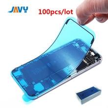 JAVY 100 Uds adhesivo impermeable para iPhone 6S 6 más 7 6S más 3M LCD etiqueta para el iPhone 8 Plus XR X XS X 11 Pro Max Marco de pantalla LCD cinta