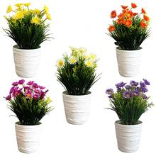 1Pc Potted Artificial Flower Performance Stage Garden Home Party Decor Props Stages Vivid Color Beautiful Non-fading