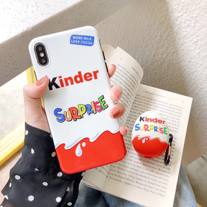 New Cute Trolly egg KINDER JOY Surprise Super luxury cases for iphone XS XR 11 Pro Max 6 6s 7 8 plus soft silicon Phone cover(China)