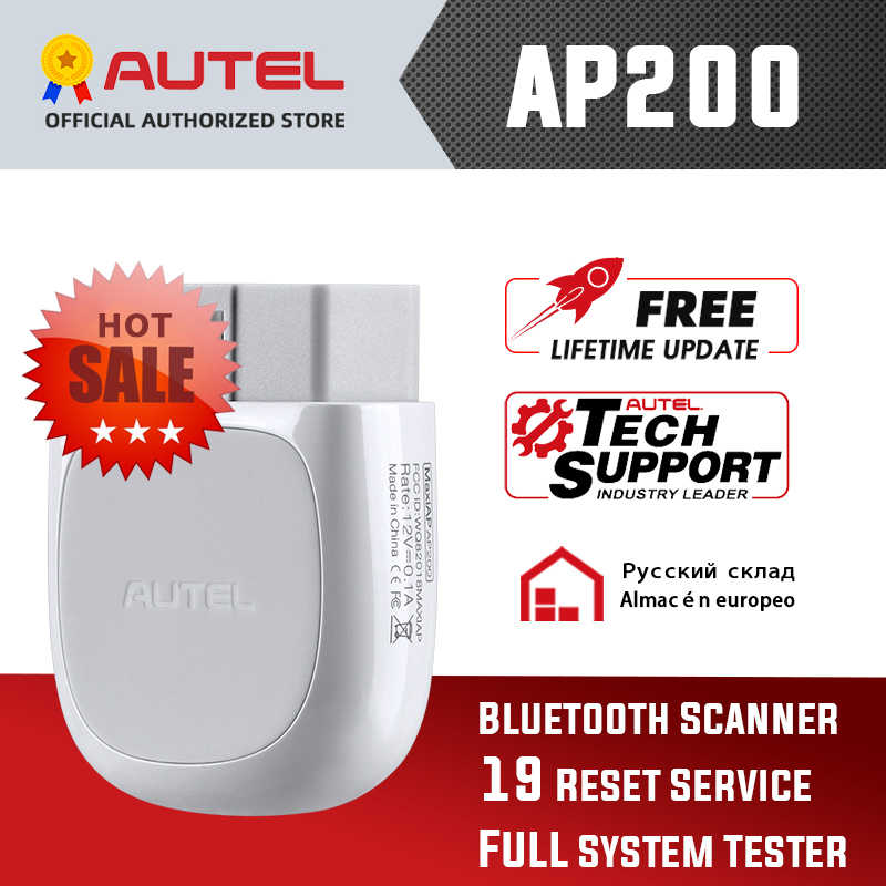 Autel AP200 Bluetooth OBD2 Scanner Code Reader Full System-Diagnose-Tool diagnostic scanner PK MK808 easydiag 3,0 ThinkDiag