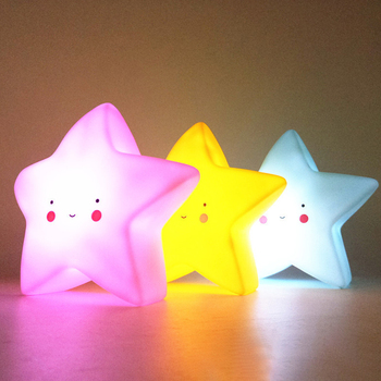 Baby Childrens Room Decoration LED night lamp Bed Cartoon Toy Bedroom Star shape light baby
