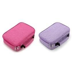 2 Pcs 72 Holder Pen Colored Pencil Case School Multi-Functional High Capacity Zipper Pencil Bag for Student Art Supplies , Pink