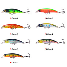 1PCS Minnow Fishing Lure Laser Hard Artificial Bait 7CM/4G Wobblers Crankbait Minnows 3D Eyes Tackle