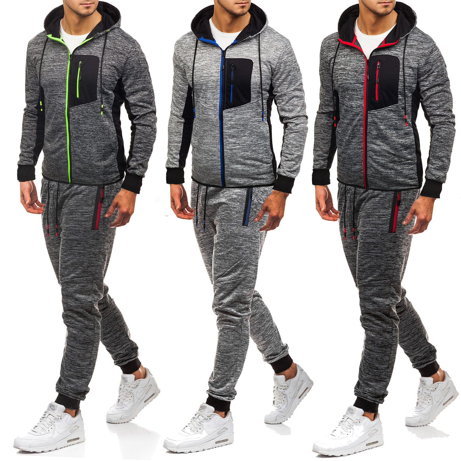 2019 Men Leisure Sports Suit Europe And America Pullover Hoodie Sweatpants Set