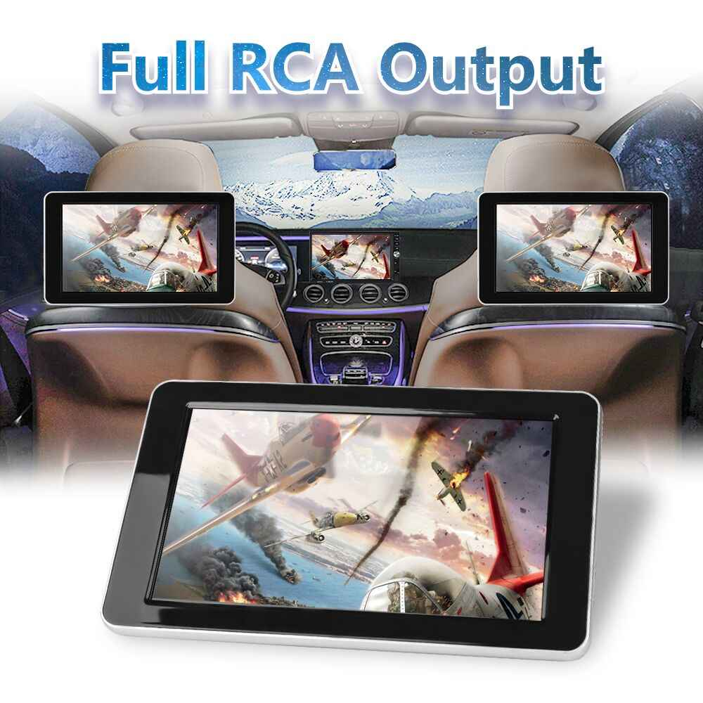 9 pulgadas Car HD reposacabezas Audio Monitor TFT Color LCD pantalla Digital ENTRADA AV Radio compatible con cámara de respaldo reproductor MP5