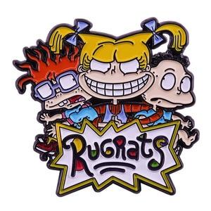 Брошь с эмалью и эмалью в стиле аниме Rugratg Gowild, классика 90s, подарки фанатам аниме