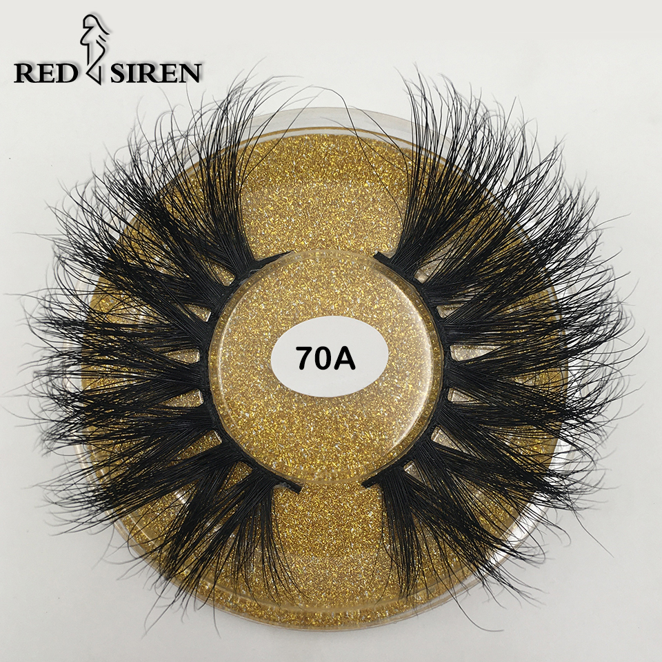 RED SIREN 25mm 3d Mink Lashes Natural Thick Dramatic Long Eye Lashes Makeup Extention Fake Eyelashes 25 Mm Mink Eyelashes