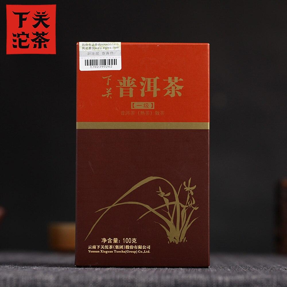 Xiaguan 2016 Yr Shu Pu-erh Tea First Grade Loose Ripe Pu-erh Tea 100g Box