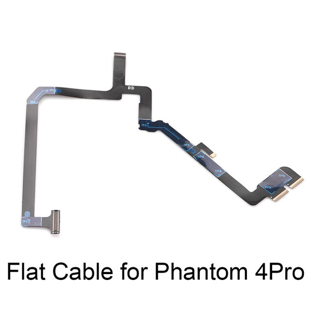 2 in 1 Ribbon Flat Cable Flex with Yaw Arm Bracket for DJI Phantom 4 Pro Drone Gimbal Camera Repairing Spare Parts Accessories