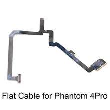 Cable plano 2 en 1 de cinta flexible con soporte de brazo de Yaw para DJI Phantom 4 Pro Drone cardán Cámara Reparación de piezas de repuesto Accesorios