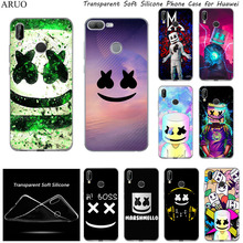 DJ marshmallow Series SOFT TPU Silicone phone case for huawei Y7 Pro 2020 Y5 Lite Y6 Y3 Y9 Prime 2018 2019 2017 honor 8s 7s cartoon soft silicone mascara horse case for huawei y5 2 y6 2 y5 y3 2017 and y5 y6 y7 2018 y7 y5prime2018 phone back case funda