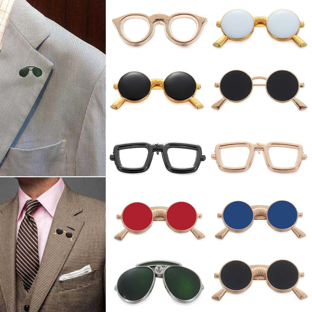 2019 Baru Pria Enamel Kacamata Bros Pin Dada Kerah Pin Aksesoris Kerah Pin Lencana Sesuai Minyak Menetes Pakaian Perhiasan