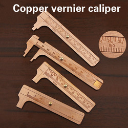 Portable MINI Measure Measurement Tool Antique copper ruler 0-80mm 0-100mm Brass Sliding Gauge Vernier Caliper digital tools