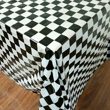Disposable Tablecloth Rectangle Plastic Outdoor New Print Plaid Camping