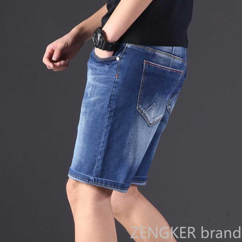 Bardzo duża rozmiar męskie spodenki jeansowe ponadgabarytowe męskie w pasie kolano długość letnie luźne spodenki męskie plus rozmiar 9XL 8XL 7XL 6XL