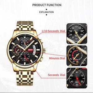 Image 2 - Relojes NIBOSI para hombre, reloj Masculino de marca superior de lujo, reloj deportivo de cuarzo a la moda para hombres, reloj de negocios resistente al agua para hombres