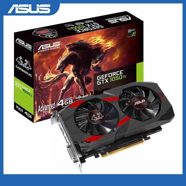 Asus CERBERUS GTX 1050Ti A4G ברמת הזרם המרכזי לכרטיסי מסך של שולחן עבודה GDDR5 Boost 1417MHz PCI Express 3.0 GeForce GTX 1050Ti 4G