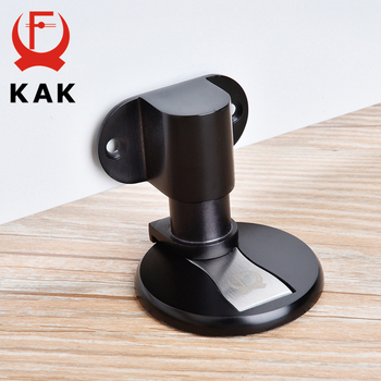 KAK Stainless Steel Magnetic Door Stopper Adjustable Door Holder Non-punch Sticker Water-proof Door Stop Furniture Door Hardware yutoko stainless steel door stop casting powerful floor mounted magnetic holder 46mm 47mm satin nickel brushed door stopper