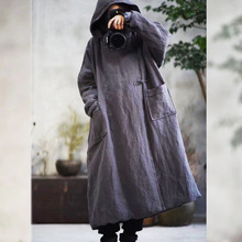 Warm Thick Parkas Hooded Women Winter New 2019 Cotton Linen Pockets Cotton padded Warm Clothing Women YoYiKamomo