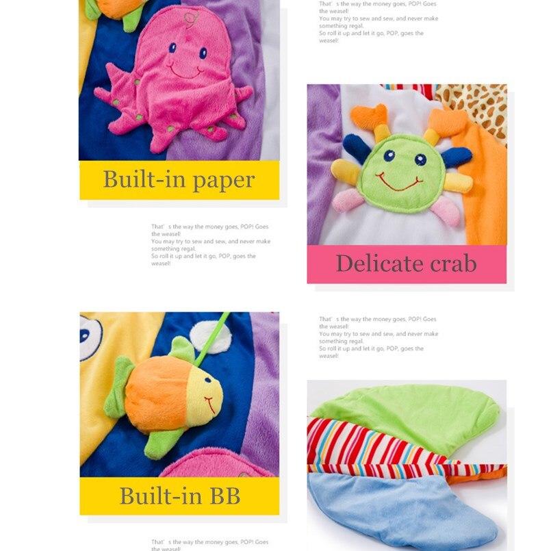 0-12 mois tapis d'activité bébé avec Musical doux Animal sensoriel bébé Gym ramper tapis de jeu jouets éducatifs pour enfants cadeau - 3