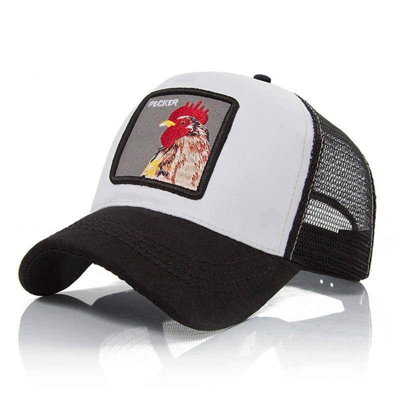 Evrfelan موضة شبكة قبعة بيسبول للجنسين جميل الحيوانات قبعات النساء والرجال Snapback قبعة أبي قبعة الصيف العظام قابل للتعديل gorras