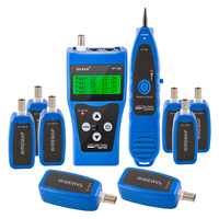NOYAFA NF 388 Multipurpose Network LAN Phone Cable Tester 8 far end Test jacks, hunt 5E, 6E Wire Tracker Measure Cable Length