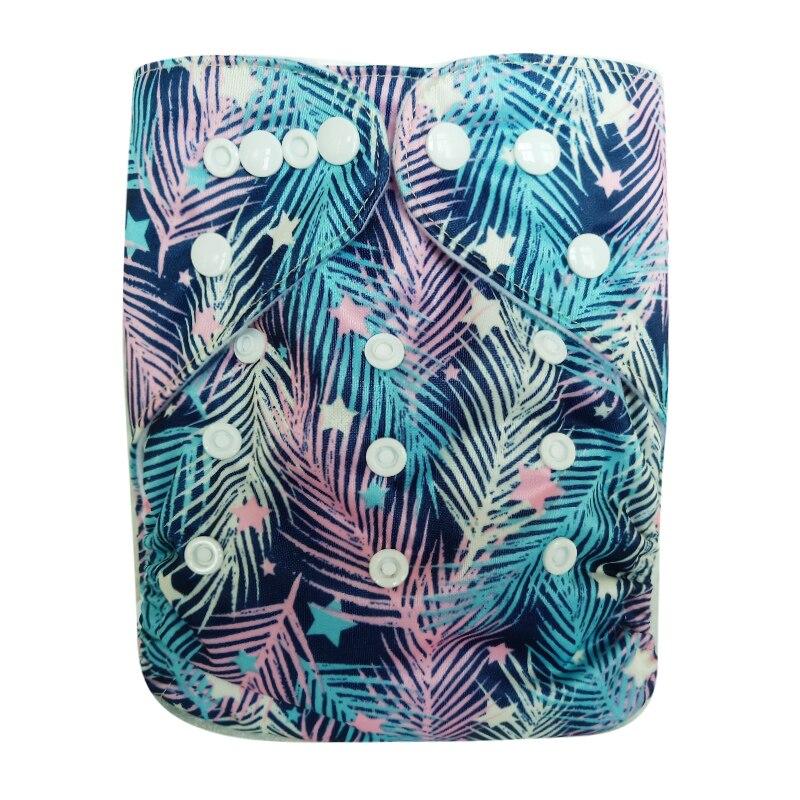 PORORO бренд все в одном размере многоразовые карманные подгузники с застежкой на кнопке, супер мягкая детская Пеленка из моющейся ткани подгу...