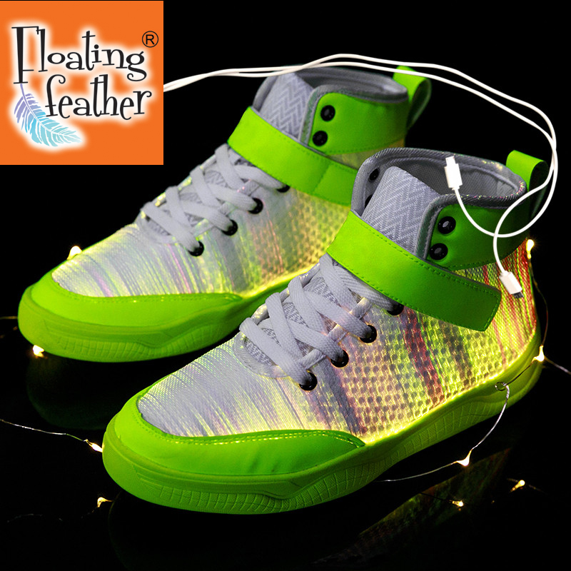 Size 36-46 New Summer Autumn Led Fiber Optic Shoes for girls boys men women USB Recharge glowing Sneakers Man light up shoes