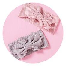 Headband Newborn Hair-Accessories Wide-Turban Knitted Elastic Toddler Baby-Girl Twist