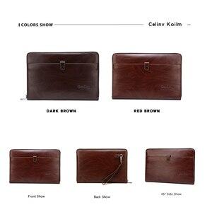 Image 5 - Celinv Koilm الرجال حقيبة صغيرة سعة كبيرة الرجال محافظ كبيرة الهاتف جيب بطاقة المرور عالية الجودة متعددة الوظائف بوس حقيبة يد للرجال