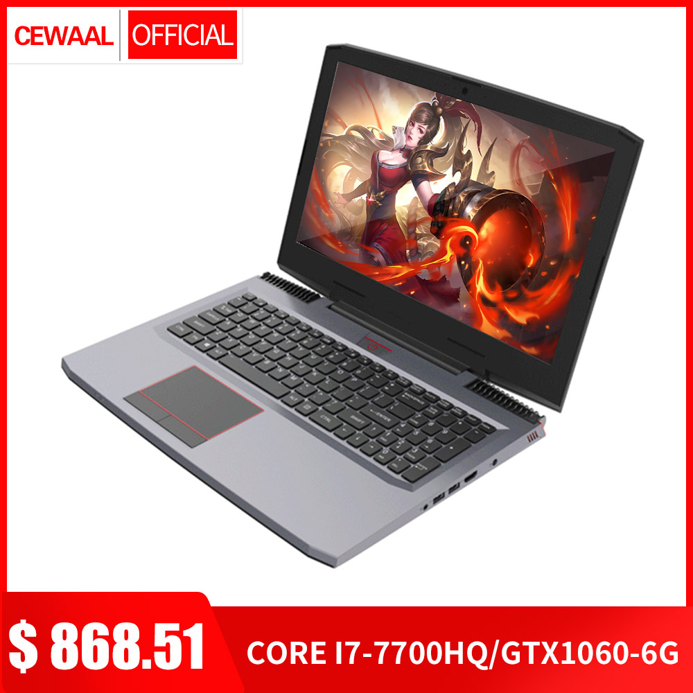 "15.6"" Laptop Intel Core I7-7700HQ Quad Core NVIDIA GTX1060 6G DDR4 8GB+512GB M.2 SSD  Windows 10 144Hz HDMI Gigabit RJ45 5G WIFI"