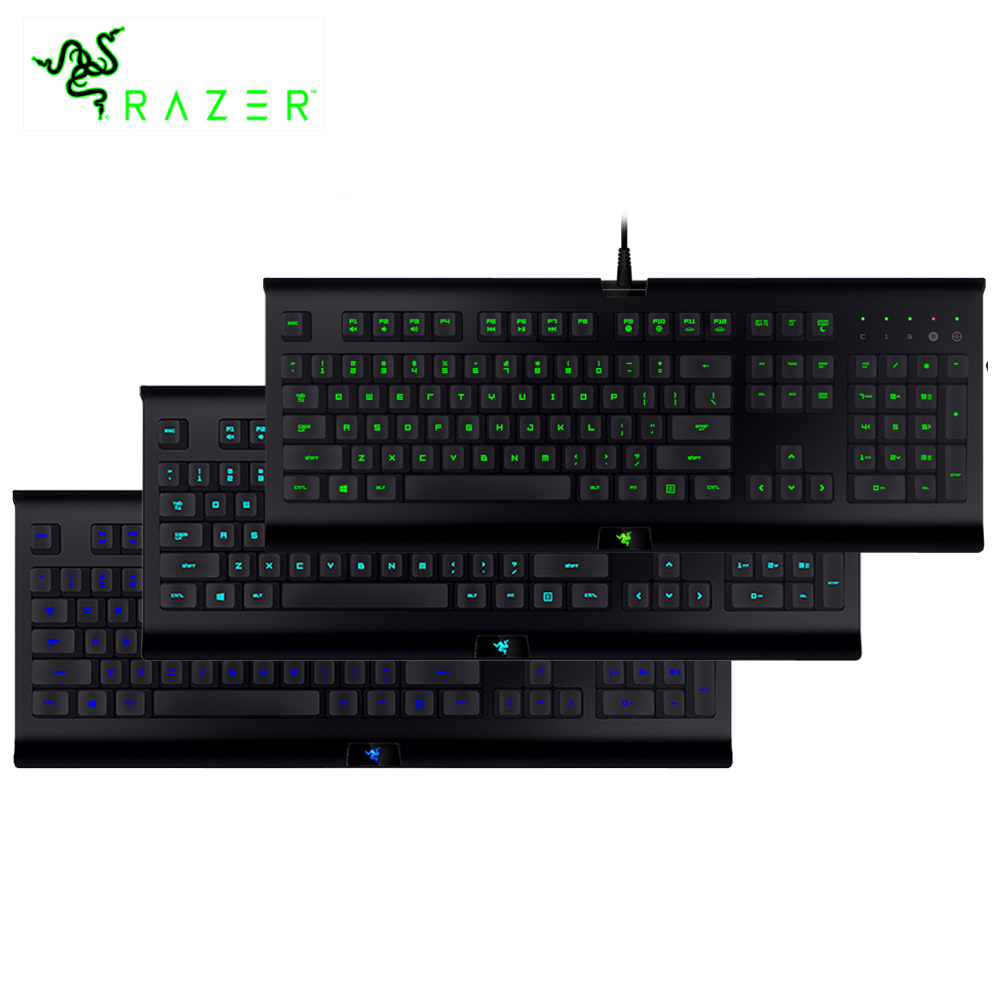 Original Razer Cynosa Pro Backlit Membrane Gaming Keyboard Wired Fully Programmable Keys Macro Recording Enable Synapse Keyboard
