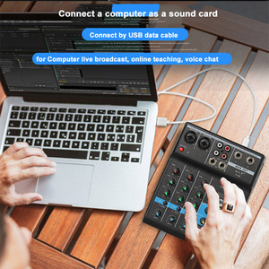 Image 3 - Portable bluetooth Mixing Console 4 Channel Audio Mixer with Reverb Effect For Home Karaoke USB Stage Karaoke KTV