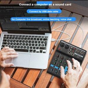 Image 3 - נייד bluetooth ערבוב קונסולת 4 ערוץ אודיו מיקסר עם Reverb אפקט לבית קריוקי USB שלב קריוקי KTV