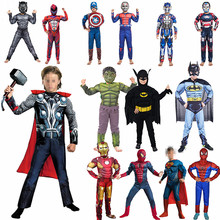 4-12Y New Year Child The Film Cosplay Costume Anime Superhero Boy Girl Halloween Muscle Clothing Carnival Party Ball