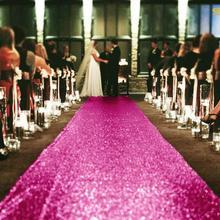 2FTX15FT Свадебный проходной дорожка ярко-розовые блестящие Carpert Runners Sequin прохода ковер Свадебная церемония Decor-M1024