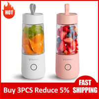Licuadora portátil de 350ml, máquina exprimidora eléctrica con USB, miniprocesador de batidos de alimentos, exprimidor Personal de frutas
