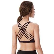 Fitness deportes sujetador de Mujeres de Cruz gimnasio Yoga correr entrenamiento mujer acolchado ropa interior Tops mujer