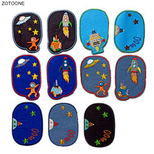 ZOTOONE Cartoon Planet Patch Iron on Patches for Clothing Jeans DIY Repair Badge for Kids Sew on Stickers Clothes Applique G