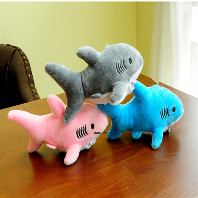 3 kolory-Shark pluszowe, Ocean zabawki, 2 rozmiary, 10cm i 18cm pluszowe wypełnione zabawki lalki, brelok Shark