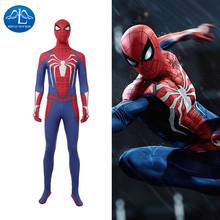 Manluyunxiao Spiderman Costume PS4 Insomniac Game Spider Man Jumpsuit Halloween Costumes For Kids Men Superhero Custom Made