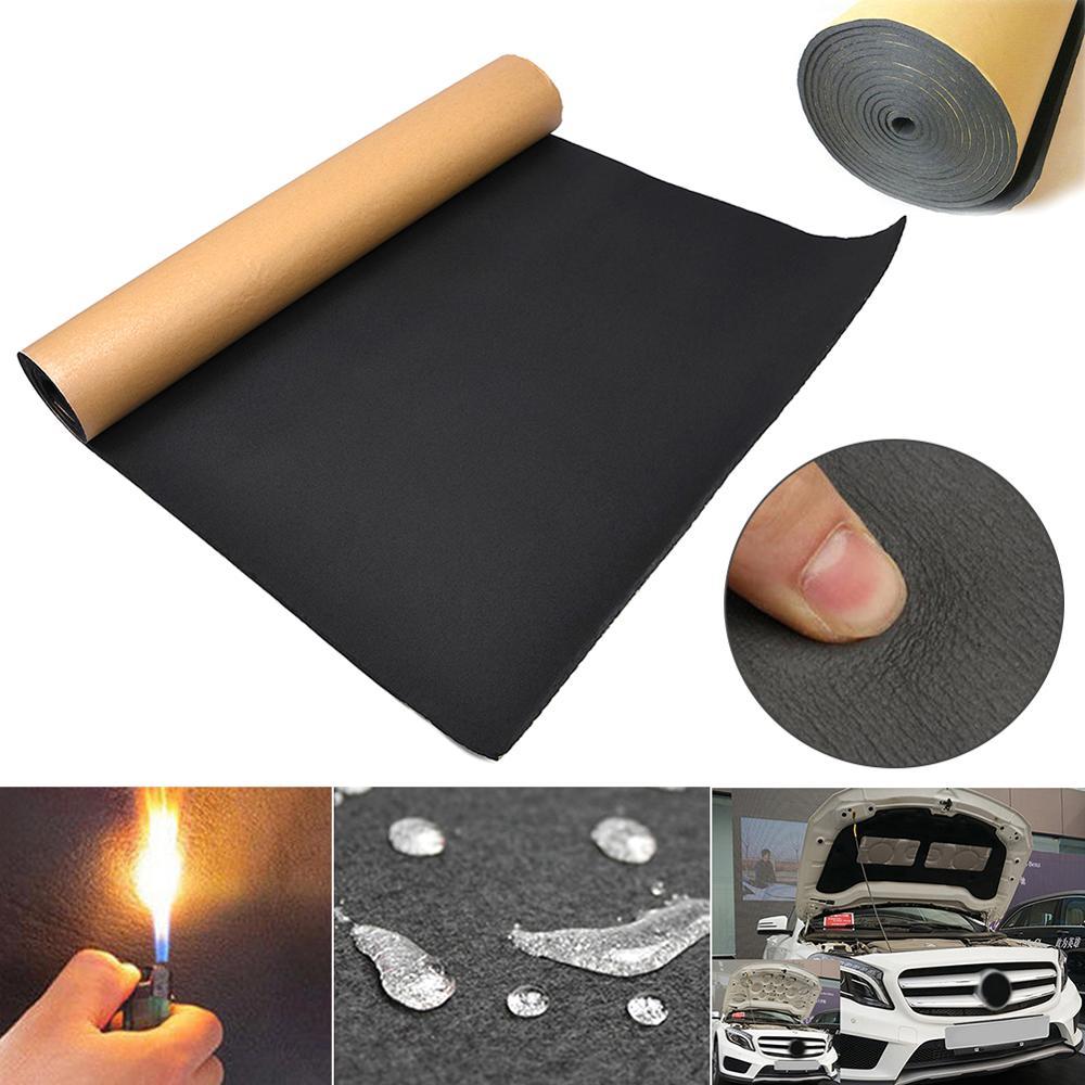1 rolo 30cm x 50cm carro sadio proofing amortecimento anti-ruído isolamento acústico algodão calor fechado célula espuma interior do carro acessórios