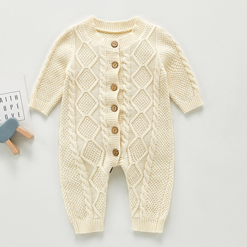 Autumn Newborn Boys Girl Jumpsuit Toddler Baby Romper Baby Girl Long Sleeves Jumpsuit Winter Baby Girl Knit Clothes