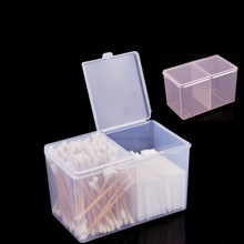 Container Organizer Polish-Remover Storage-Box Nail-Art Compartments-Holder Clear Swab
